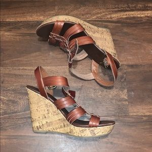 Mossimo Brown Wedges in Size 10